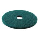 Premiere Pads BWK4017GRE Standard 17-Inch Diameter Heavy-Duty Scrubbing Floor Pads, Green