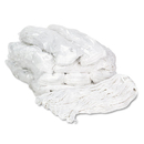 Boardwalk BWK4024RCT Pro Loop Web/Tailband Wet Mop Head, Rayon, #24 Size, White, 12/Carton