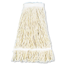 Boardwalk BWK424CCT Pro Loop Web/Tailband Wet Mop Head, Cotton, 24oz, White, 12/Carton