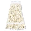 UNISAN BWK424CEA Pro Loop Web/tailband Wet Mop Head, Cotton, 24oz, White