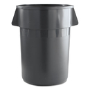 Boardwalk 3485199 Round Waste Receptacle, Plastic, 44 gal, Gray