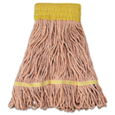 Boardwalk BWK501OR Super Loop Wet Mop Head, Cotton/Synthetic Fiber, Small, Orange, 12/Carton