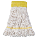 Boardwalk BWK501WH Super Loop Wet Mop Head, Cotton/Synthetic Fiber, Small, White, 12/Carton
