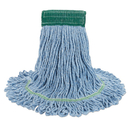 Boardwalk BWK502BLCT Super Loop Wet Mop Head, Cotton/Synthetic, Medium Size, Blue, 12/Carton