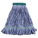 UNISAN BWK502BLEA Super Loop Wet Mop Head, Cotton/synthetic, Medium Size, Blue
