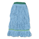 Boardwalk BWK502BLNB Super Loop Wet Mop Head, Cotton/Synthetic Fiber, Medium, Blue