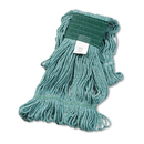 Boardwalk BWK502GNCT Super Loop Wet Mop Head, Cotton/Synthetic, Medium Size, Green, 12/Carton