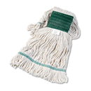 Boardwalk BWK502WHCT Super Loop Wet Mop Head, Cotton/Synthetic, Medium Size, White, 12/Carton