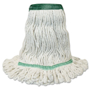 Boardwalk BWK502WHNB Mop Head, Premium Standard Head, Cotton/Rayon Fiber, Medium, White