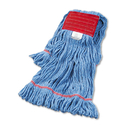 Boardwalk BWK503BLCT Super Loop Wet Mop Head, Cotton/Synthetic, Large Size, Blue, 12/Carton