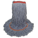 Boardwalk BWK503BLNB Super Loop Wet Mop Head, Cotton/Synthetic Fiber, Large, Blue