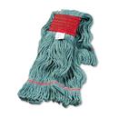Boardwalk BWK503GNEA Super Loop Wet Mop Head, Cotton/Synthetic, Large Size, Green