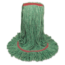 Boardwalk BWK503GNNB Mop Head, Premium Standard Head, Cotton/Rayon Fiber, Large, Green