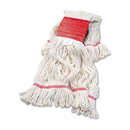 UNISAN BWK503WHEA Super Loop Wet Mop Head, Cotton/synthetic, Large Size, White