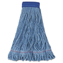 Boardwalk BWK504BL Super Loop Wet Mop Head, Cotton/Synthetic Fiber, X-Large, Blue, 12/Carton