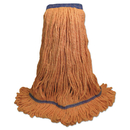 Boardwalk BWK504OR Super Loop Wet Mop Head, Cotton/Synthetic Fiber, X-Large, Orange, 12/Carton