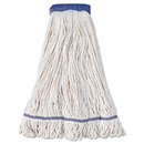 Boardwalk BWK504WH Super Loop Wet Mop Head, Cotton/Synthetic Fiber, X-Large, White, 12/Carton