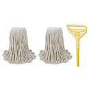 Boardwalk BWK5324C Cut-End Mop Kits, #24, Natural, 60