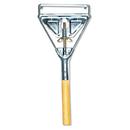 Boardwalk BWK605 Quick Change Metal Head Mop Handle for No. 20 & Up Heads, 54in Wood Handle