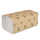 Boardwalk BWK6212 Singlefold Paper Towels, White, 9 X 9 9/20, 250/pack, 16 Packs/carton