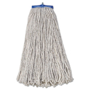 Boardwalk BWK720C Mop Head, Economical Lie-Flat Head, Cotton Fiber, 20oz, White, 12/Carton