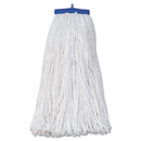 Boardwalk BWK720R Mop Head, Economical Lie-Flat Head, Rayon Fiber, 20oz, White, 12/Carton