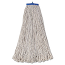Boardwalk BWK732C Mop Head, Economical Lie-Flat Head, Cotton Fiber, 32oz, White, 12/Carton