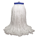 Boardwalk BWK732R Mop Head, Economical Lie-Flat Head, Rayon Fiber, 32-Oz., White, 12/Carton