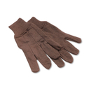 Boardwalk BWK9 Jersey Knit Wrist Clute Gloves, One Size Fits Most, Brown, 12 Pairs