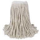 Boardwalk BWKCM02016S Mop Head, Cotton, Cut-End, White, 4-Ply, #16 Band, 12/Carton