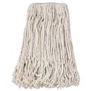 Boardwalk BWKCM02024S Banded Cotton Mop Head, #24, White, 12/carton