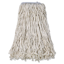 Boardwalk BWKCM02032S Cotton Mop Head, Cut-End, #32, White, 12/carton