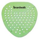 Boardwalk BWKGEMHMI Gem Urinal Screen, Lasts 30 Days, Green, Herbal Mint Fragrance, 12/Box