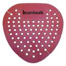 Boardwalk BWKGEMSAP Gem Urinal Screen, Lasts 30 Days, Red, Spiced Apple Fragrance, 12/Box
