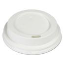 Boardwalk HOTWH8 Hot Cup Lids, Fits 8 oz Hot Cups, White, 1000/Carton