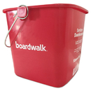 Boardwalk KP196RD Sanitizing Bucket, 6 qt, Red, Plastic