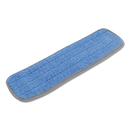 Boardwalk BWKMFM185BCFDZ Microfiber Mop Head, Blue, 18 x 5, Split Microfiber, Hook & Loop Back, Dozen