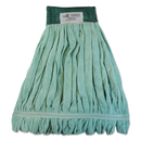 Boardwalk BWKMWTLGCT Microfiber Looped-End Wet Mop Head, Large, Green, 12/Carton