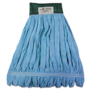 Boardwalk BWKMWTMBCT Microfiber Looped-End Wet Mop Heads, Medium, Blue, 12/Carton, 12/Carton