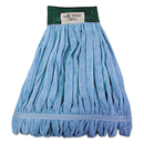 Boardwalk BWKMWTMB Microfiber Looped-End Wet Mop Head, Medium, Blue