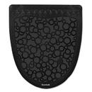Boardwalk BWKUMBB Urinal Mat 2.0, Rubber, 17 1/2 x 20, Black/Black, 6/Carton