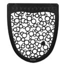 Boardwalk BWKUMBW Urinal Mat 2.0, Rubber, 17 1/2 x 20, Black/White, 6/Carton