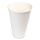 Boardwalk WHT16HCUP Paper Hot Cups, 16 oz, White, 1000/Carton