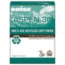Boise CAS054901 Aspen 30% Recycled Multi-Use Paper, 92 Bright, 20lb, 8 1/2 X 11, White