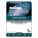 BOISE CASCADE PAPER CASBPL0111P Polaris Premium Laser Paper, 3-Hole, 97 Bright, 24lb, Letter, White. 500 Sheets