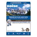 BOISE CASCADE PAPER CASBPL2411RC Aspen Premium Laser Paper, 96 Bright, 24lb, 8-1/2 X 11, White, 500 Sheets/ream