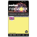 Boise CASMP2204CY Fireworx Colored Paper, 20lb, 8-1/2 X 14, Crackling Canary, 500 Sheets/ream