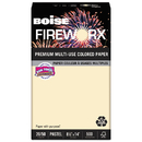 Boise CASMP2204IY Fireworx Colored Paper, 20lb, 8-1/2 X 14, Flashing Ivory, 500 Sheets/ream