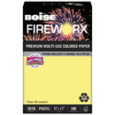Boise CASMP2207CY Fireworx Colored Paper, 20lb, 11 X 17, Crackling Canary, 500 Sheets/ream