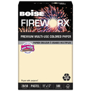 Boise CASMP2207IYRM Fireworx Colored Paper, 20lb, 11 X 17, Flashing Ivory, 500 Sheets/ream